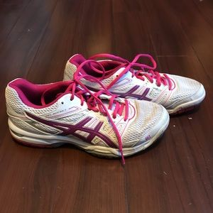 ASICS Gel Rocket Volleyball Pink Shoes Size 7
